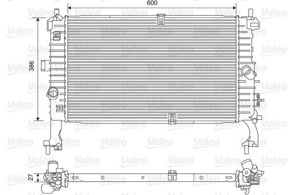 Radiateur, refroidissement du moteur - VALEO - 734386