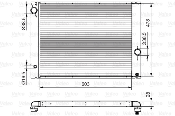 Radiateur, refroidissement du moteur - VALEO - 734396