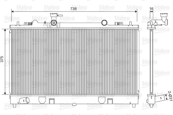Radiateur, refroidissement du moteur - VALEO - 734410