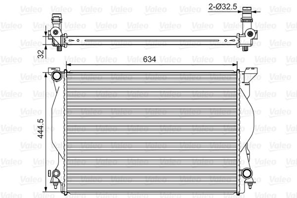 Radiateur, refroidissement du moteur - VALEO - 734419