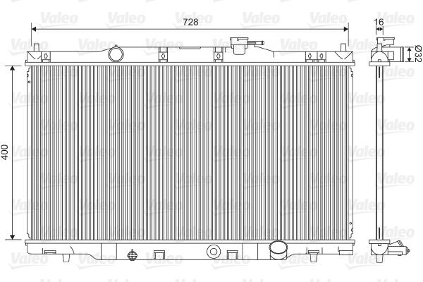 Radiateur, refroidissement du moteur - VALEO - 734476