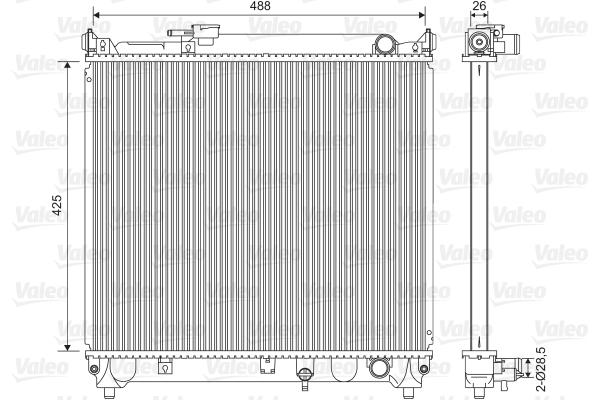 Radiateur, refroidissement du moteur - VALEO - 734662