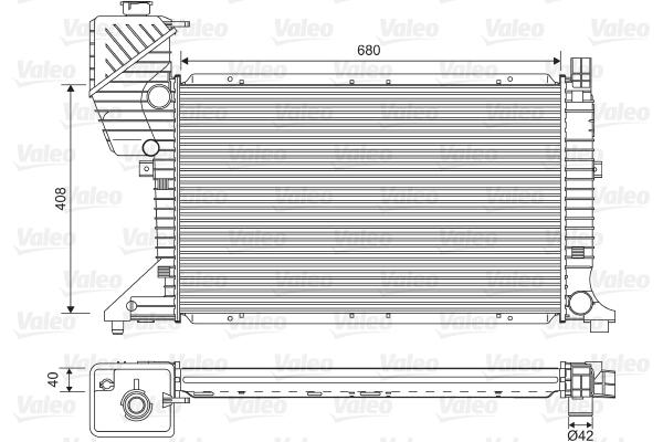 Radiateur, refroidissement du moteur - VALEO - 734689