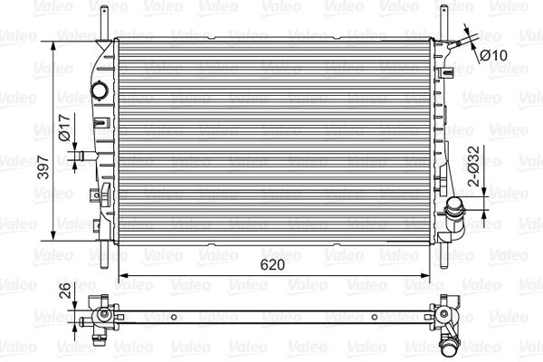 Radiateur, refroidissement du moteur - VALEO - 734699