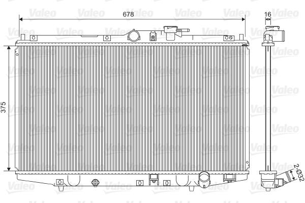 Radiateur, refroidissement du moteur - VALEO - 734716