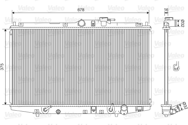 Radiateur, refroidissement du moteur - VALEO - 734717