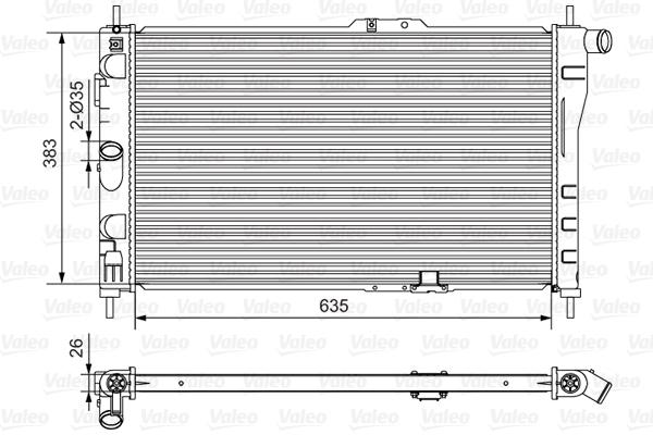 Radiateur, refroidissement du moteur - VALEO - 734766