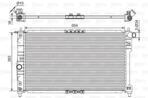 Radiateur, refroidissement du moteur - VALEO - 734767