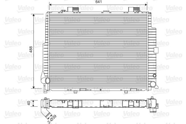 Radiateur, refroidissement du moteur - VALEO - 734796