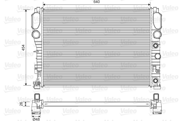 Radiateur, refroidissement du moteur - VALEO - 734805