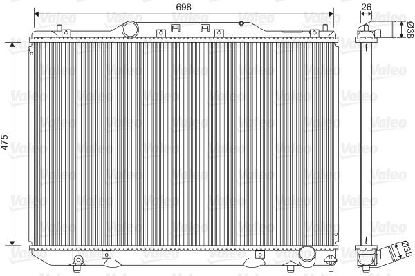 Radiateur, refroidissement du moteur - VALEO - 734850