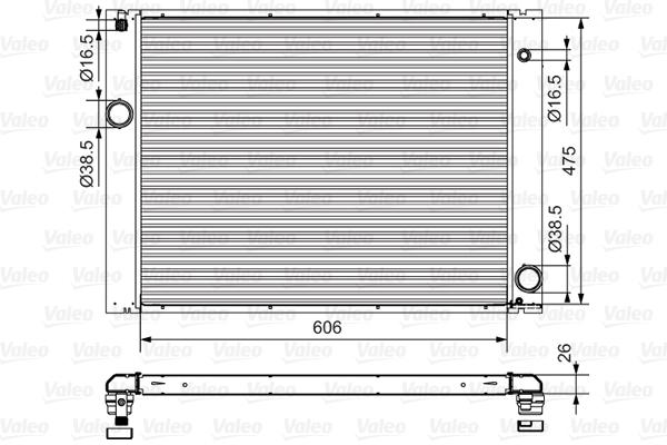 Radiateur, refroidissement du moteur - VALEO - 734897