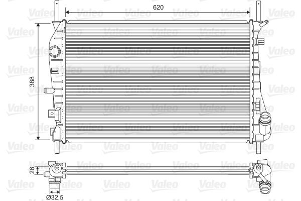 Radiateur, refroidissement du moteur - VALEO - 735048