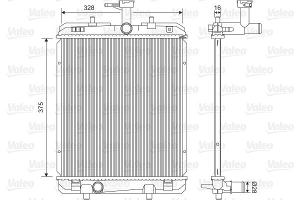 Radiateur, refroidissement du moteur - VALEO - 735069