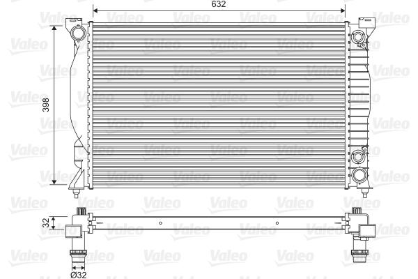 Radiateur, refroidissement du moteur - VALEO - 735093