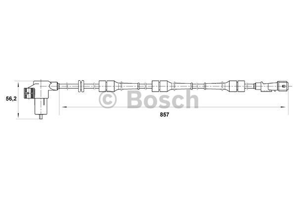 Capteur, vitesse de roue - BOSCH - 0 265 006 441