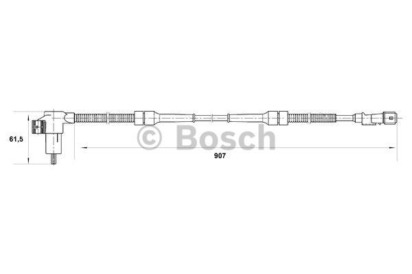Capteur, vitesse de roue - BOSCH - 0 265 006 504