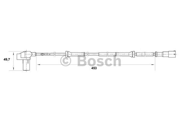Capteur, vitesse de roue - BOSCH - 0 265 006 528