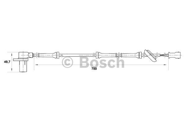 Capteur, vitesse de roue - BOSCH - 0 265 006 569