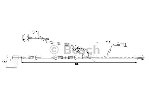 Capteur, vitesse de roue - BOSCH - 0 265 006 571