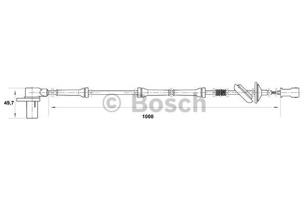 Capteur, vitesse de roue - BOSCH - 0 265 006 573