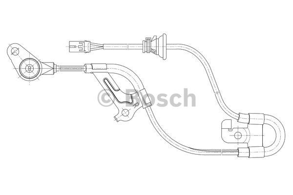 Capteur, vitesse de roue - BOSCH - 0 265 006 665