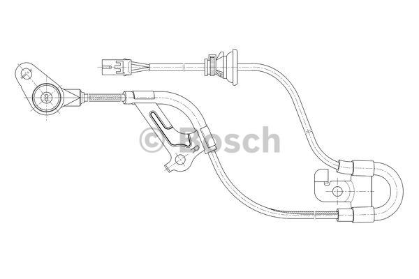 Capteur, vitesse de roue - BOSCH - 0 265 006 668