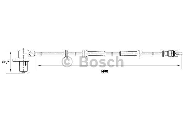 Capteur, vitesse de roue - BOSCH - 0 265 006 673