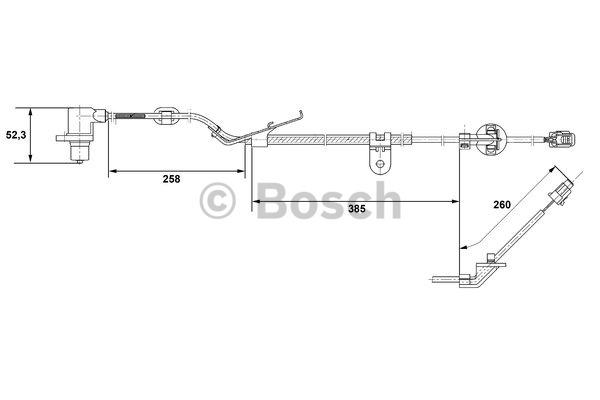 Capteur, vitesse de roue - BOSCH - 0 265 006 674