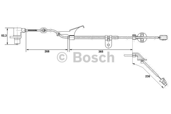 Capteur, vitesse de roue - BOSCH - 0 265 006 675