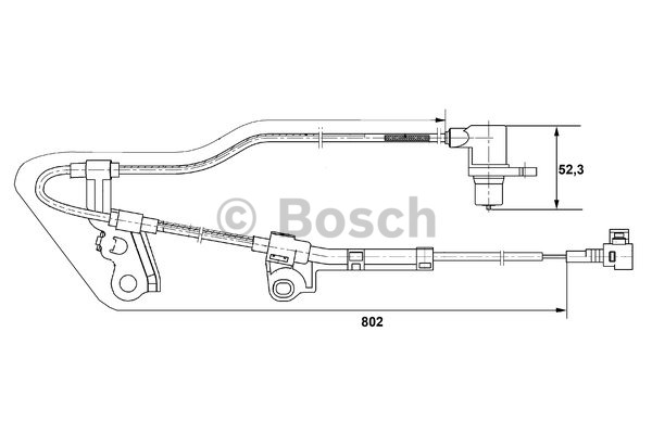 Capteur, vitesse de roue - BOSCH - 0 265 006 676
