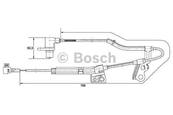 Capteur, vitesse de roue - BOSCH - 0 265 006 677