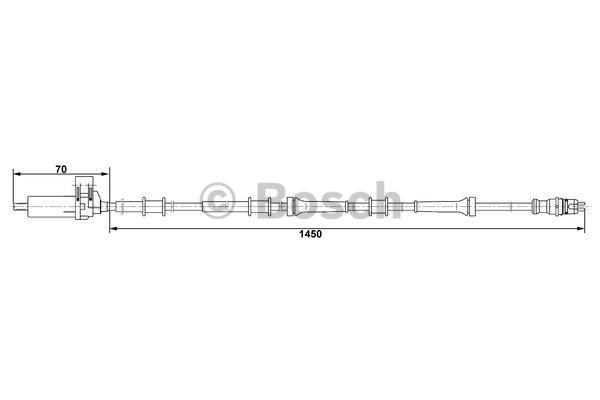 Capteur, vitesse de roue - BOSCH - 0 265 006 688