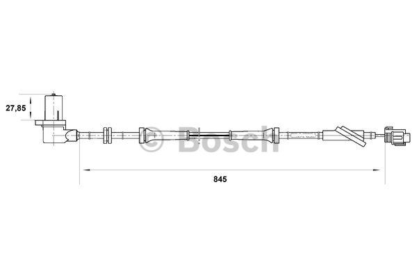 Capteur, vitesse de roue - BOSCH - 0 265 006 703