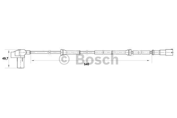 Capteur, vitesse de roue - BOSCH - 0 265 006 710