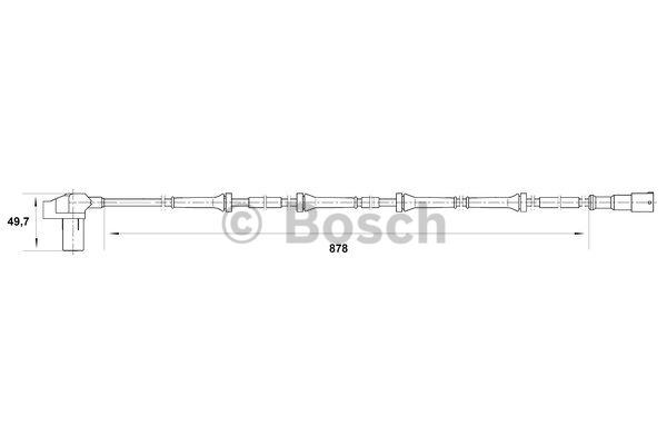 Capteur, vitesse de roue - BOSCH - 0 265 006 711