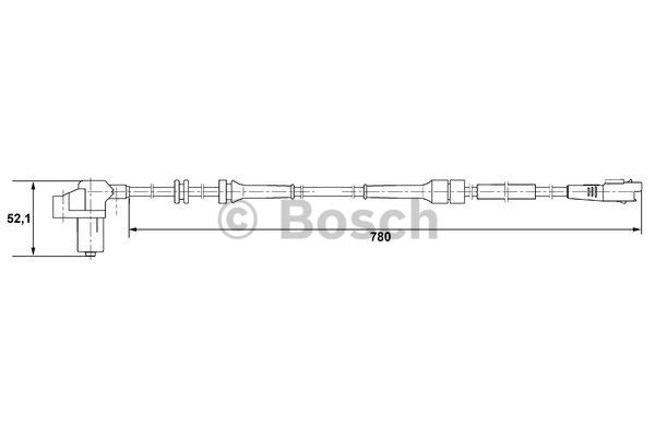 Capteur, vitesse de roue - BOSCH - 0 265 006 730