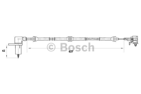 Capteur, vitesse de roue - BOSCH - 0 265 006 756