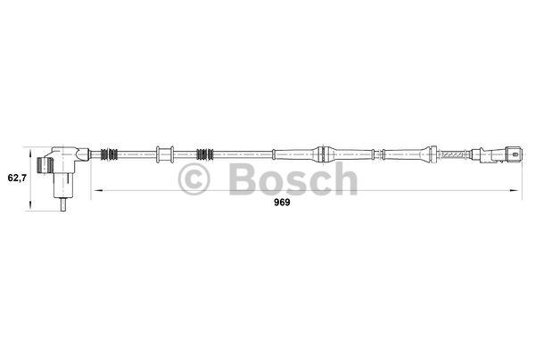 Capteur, vitesse de roue - BOSCH - 0 265 006 793