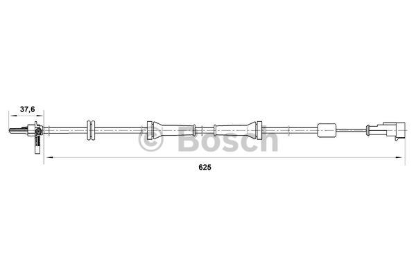 Capteur, vitesse de roue - BOSCH - 0 265 007 018