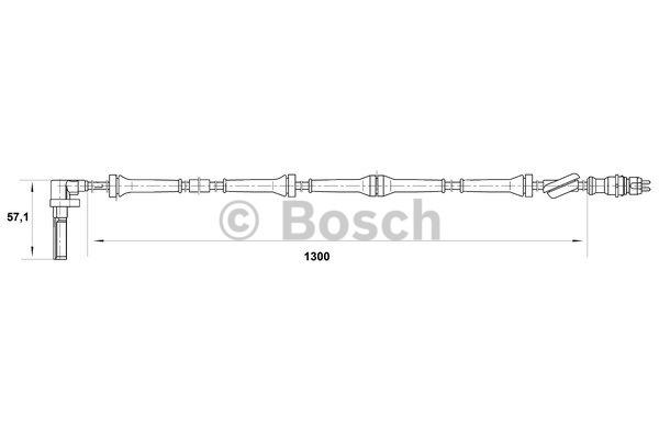 Capteur, vitesse de roue - BOSCH - 0 265 007 021
