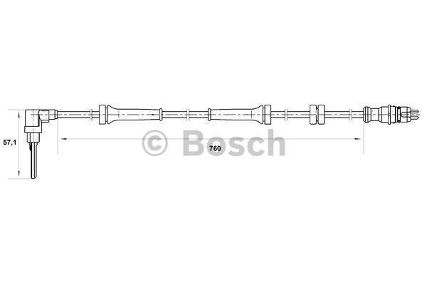 Capteur, vitesse de roue - BOSCH - 0 265 007 025