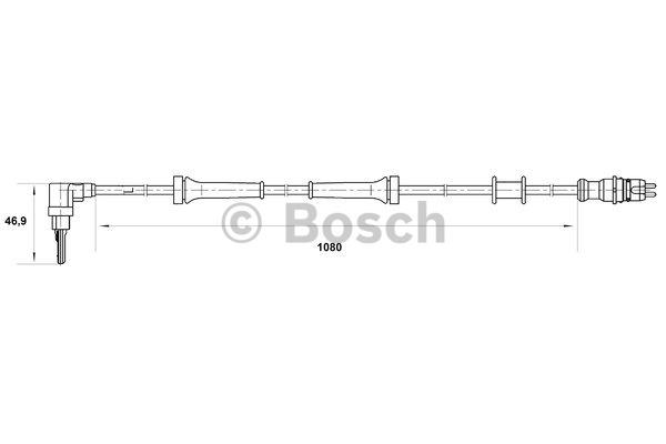 Capteur, vitesse de roue - BOSCH - 0 265 007 034