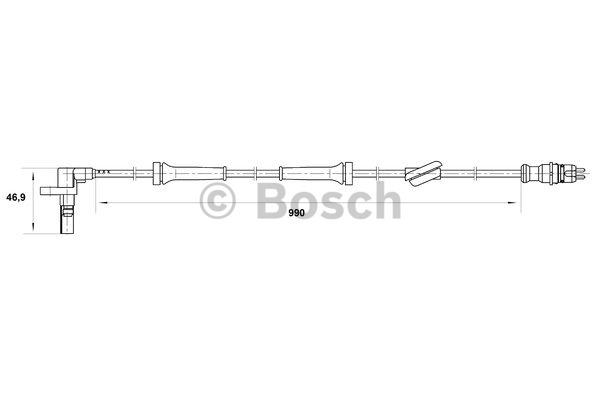 Capteur, vitesse de roue - BOSCH - 0 265 007 036