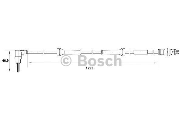 Capteur, vitesse de roue - BOSCH - 0 265 007 039