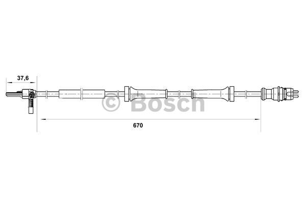Capteur, vitesse de roue - BOSCH - 0 265 007 045