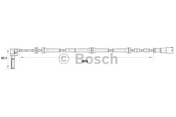 Capteur, vitesse de roue - BOSCH - 0 265 007 046