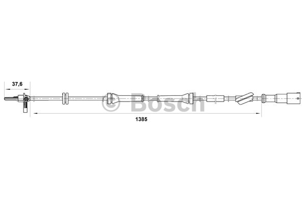 Capteur, vitesse de roue - BOSCH - 0 265 007 048