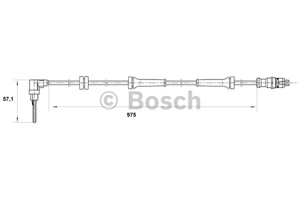 Capteur, vitesse de roue - BOSCH - 0 265 007 069