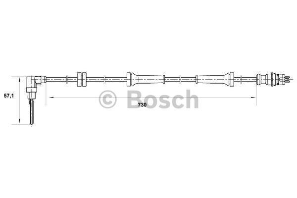 Capteur, vitesse de roue - BOSCH - 0 265 007 070